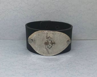 Leather cuff spoon cuff
