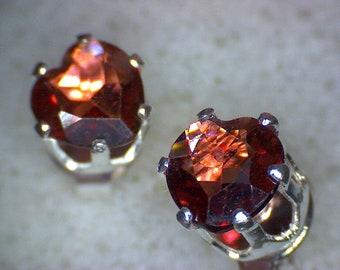 Stunning Garnet Heart Earrings