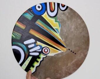 Shamanic Drum ' Warrior ' . Spiritual art