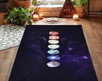 Mandala Blanket Chakra Scarf, Yoga Scarf, Yoga Blanket, Tassel Scarf, Meditation Blanket, Yoga Mat