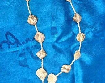 Mother of pearl necklace | upsycled vintage mother of pearl necklace | mermaid necklace UK