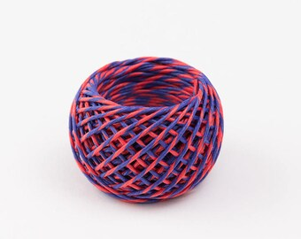 Paper string red/blue