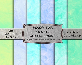 Colorful Digital 6x6 inch Designs To Download And Use In Your Personal or Commercial Digital Crafts .