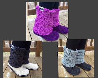 Design Your Own Slipper-Boots- Crocheted