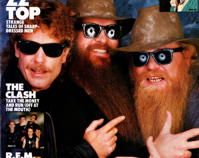 Record Magazine June 1984 Issue ZZ Top Cover