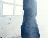 Reversible Black Blouse / Handmade Top / Asymmetrical Blouse / Yogawear / Gift for Her / Bonded Black Top / Futuristic Blouse by AryaSense