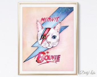 Cat Painting - Meowie - Cat Portrait - Illustration - Cat Art - Cat Lovers - Watercolor Painting