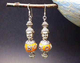 Buddha earrings with Pearl was