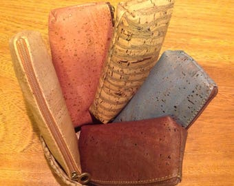Cork pouch in high quality cork - many colours - Eco friendly - Vegan