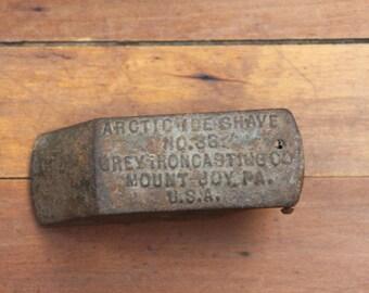 Antique Arctic Shave No. 33, Ice Scraper, Ice Plane, Old Tool, Grey Ironcasting, Cast Irons