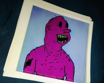 Purple Creep Sticker