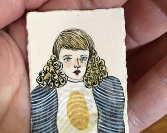 Spore Season Original Egg Tempera miniature painting on paper