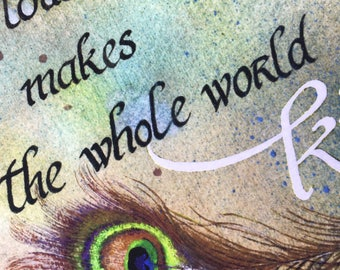 Inspirational One Touch of Nature Print: Quote, Shakespeare