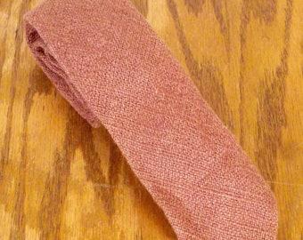 "vtg John Henry brown Knit Silk Men's Tie Skinny Necktie 57"" 2.25"""