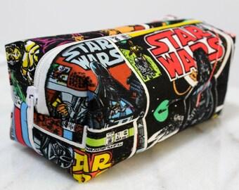 Star Wars Zipper Bag, Star Wars Pencil Bag, Star Wars Makeup Bag, Star Wars Fan Gift, Star Wars Print Bag, Star Wars Bag, Makeup Bag