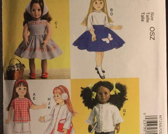 McCalls 7266   18in Retro Doll Clothes