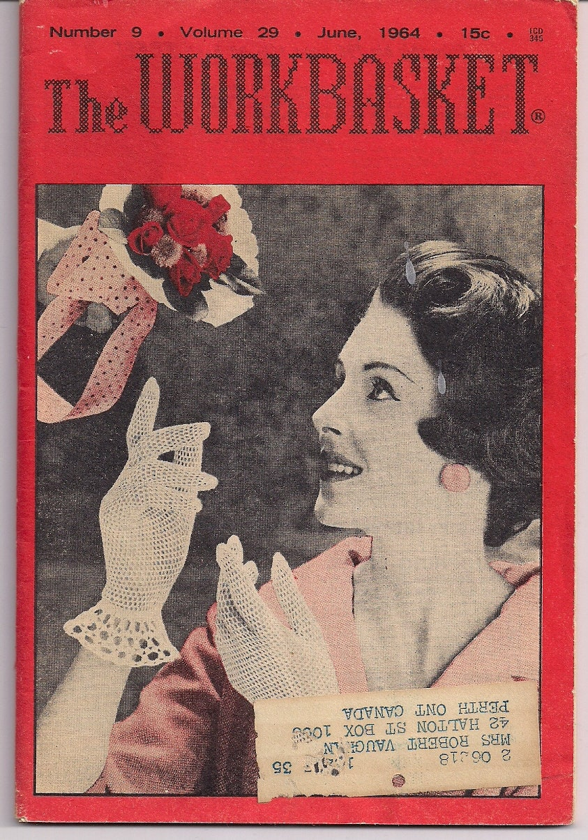 Vintage THE WORKBASKET MAGAZINE June 1964 - Crochet & Knitting ...