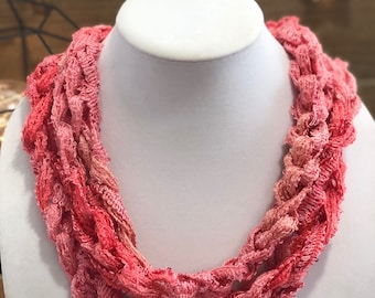 Pink Sequined Chain Scarf/Necklace - Many Colors Available!