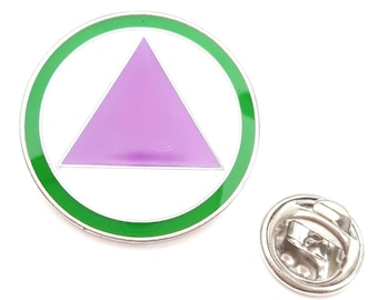Straight Ally LGBT Safe Zone Logo  enamel  Lapel Pin Badge