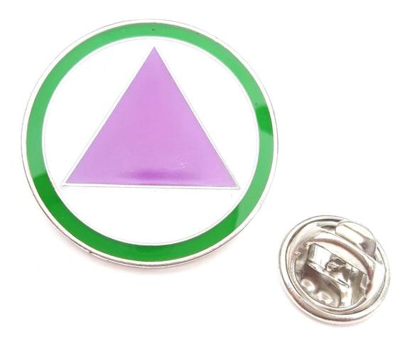 Straight Ally Lgbt Safe Zone Logo Enamel Lapel Pin Badge
