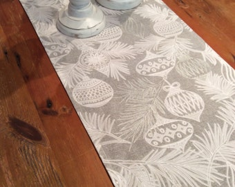 Limited Stock! Elegant, Grey, White & Silver Christmas Table Runners, Quality