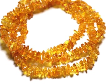 20pc - amber beads natural honey - rock Chips 6-10mm - 4558550087683