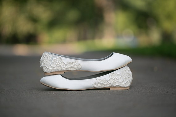 Wedding shoes ivory wedding flats wedding ballet flats junglespirit Image collections