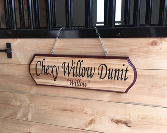 Personalized Custom Hand Painted Horse Stall Signs
