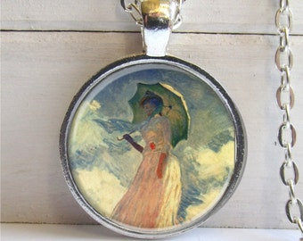 Claude Monet Necklace, Art Pendant, Art Jewelry