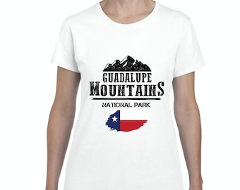 Guadalupe Mountains National Park in Black  Texas Women Shirts T-Shirt Tee