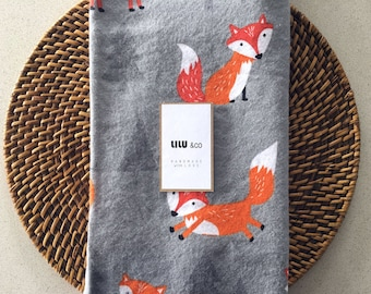 Stokke/Standard/Bassinet Fitted Sheet, Mattress Cover, Bedding - Scandi Fox