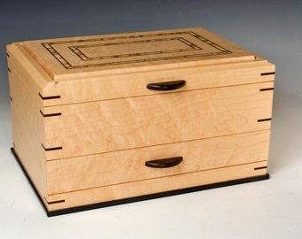Birdseye Jewelry Box with Ziricote Accents