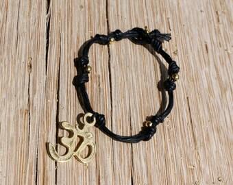 OM Bracelet/ AUM meditation bracelet/ Yoga Jewelry /Wrist Mala/ Healing bracelet/Om Charm/Yoga Charm