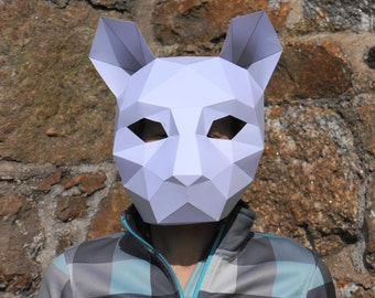 Cat or Tiger Mask - Make your own with this simple PDF