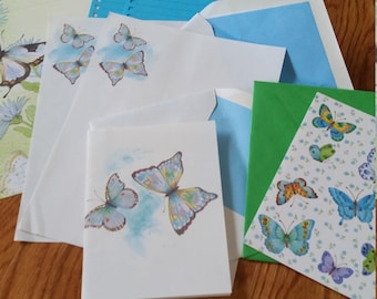 Vintage Stationery Collection ~ Beautiful Blue Butterflies Mini Collection
