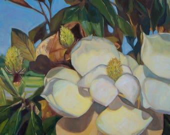 Magnolia Sky, Print of Original Oil Painting