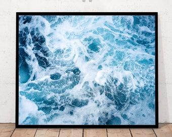 Coastal Print, Ocean Art Print Waves, Ocean Wall Decor, Ocean Photography, Ocean Sea Photography, Sea Print, Sea Water Print, Water Wall Art