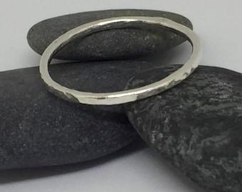 Hammered Silver Ring, Silver Ring, Hammered Silver, Stacking ring, Handmade ring, Gift for Her, Birthday, Modern Ring, Simple Ring