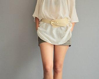 Bat wing blouse Linen/cotton