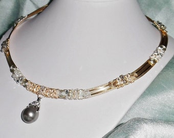 """MASSIVE 19mm Gray Tahitian Cultured Pearl, 14kt Yellow Gold, SOLID 14kt White Gold 6 diamond Bail, Pendant, 20"""" Necklace"""