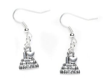 I love to read Charm Earrings | Book Lover Earrings | Reading Earrings | Book Jewellery | Reader's Gift Idea