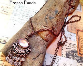 Beautiful Bohemian style copper necklace