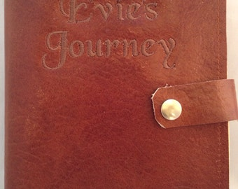Personalized Leather Journal, refillable,Custom made