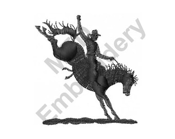 Horse - Machine Embroidery Design, Horse Rodeo, Rodeo Cowboy
