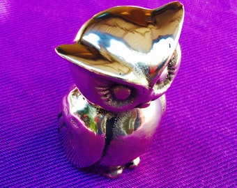 Long Eared Owl made of Solid Brass by CustomMadeCastings