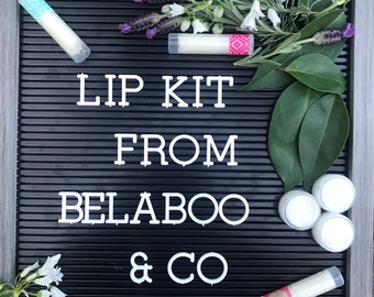 Lip Kit by Belaboo & Co  (Includes one homemade lip balm and one homemade sugar lip scrub)