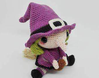 Amigurumi Pattern / Crochet Pattern /  Halloween Pattern / Halloween Witch / Crochet Doll / Amigurumi Doll / Amigurumi Witch / Crochet Witch