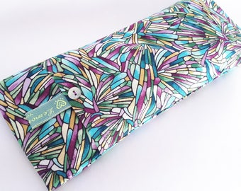 Soothing Lavender Eye Pillows - Stained glass pattern