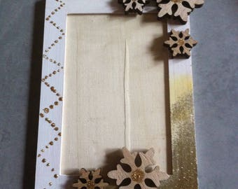 Christmas decoration, photo frame, snowflakes