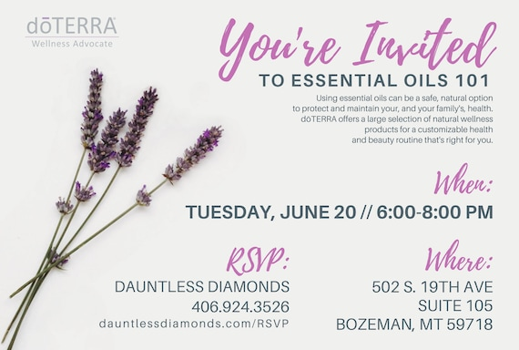 doTERRA Class Invitation Lavender II from DauntlessDiamonds on
